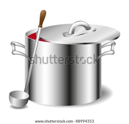 Soup (sauce) in a pot