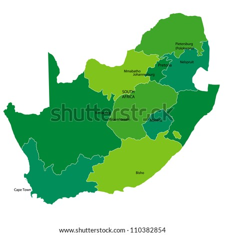 South Africa - stock vector