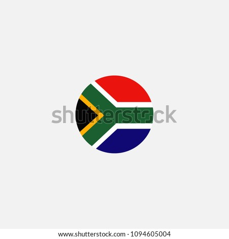 South Africa Circle Flag Vector Illustration