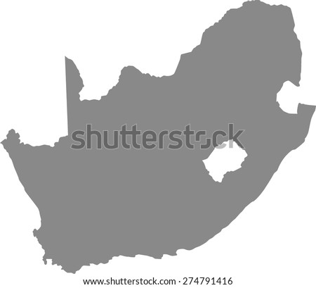 South Africa Map Outline South Africa Map Outlines in