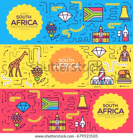 south africa vector brochure