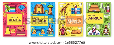 south africa vector brochure
