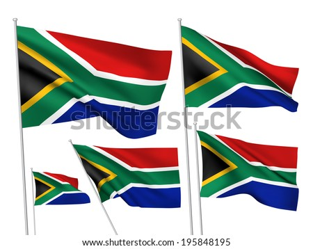 south africa vector flags a