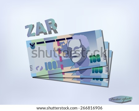 south african rand money paper
