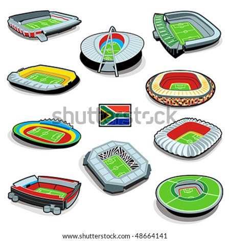 South african soccer stadium infographics