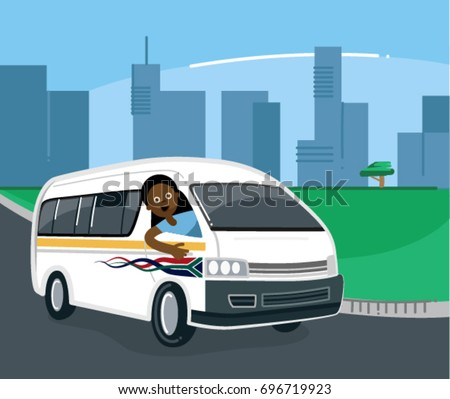South African Taxi Driver in the City