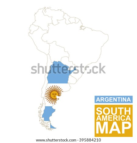south america contoured map