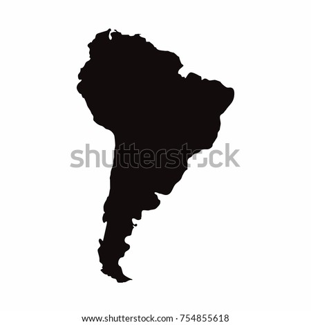South America vector country map