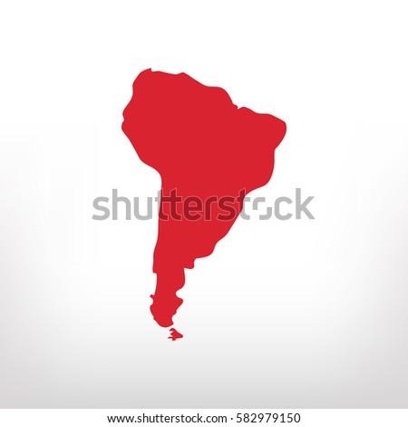 South America vector icon Photo stock ©