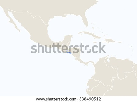 Central america map background vector download free vector art south america with highlighted el salvador map vector illustration gumiabroncs Images