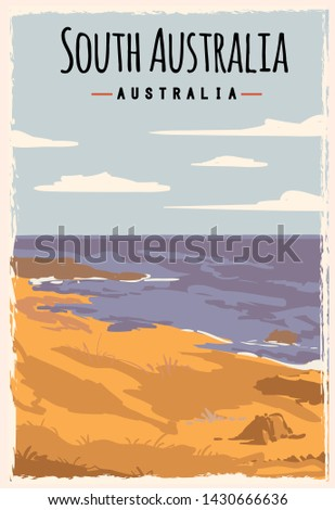 south australia retro poster