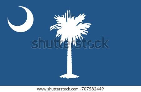 South Carolina State Flag. Vector illustration.