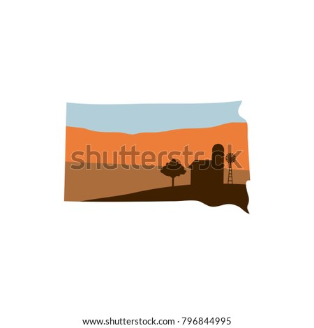 south dakota state shape with