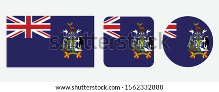 south georgia and the south sandwich islands flag icon, south georgia and the south sandwich islands flag vector illustration