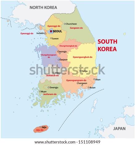 south korea administrative map