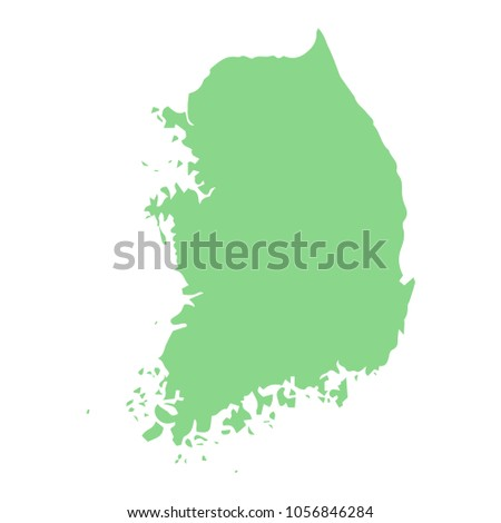South Korea Asian country map