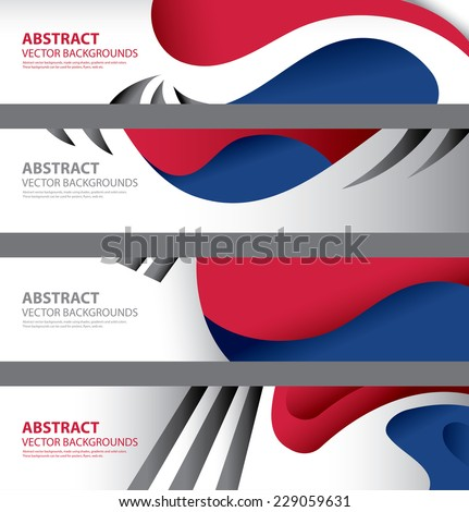 south korea flag abstract