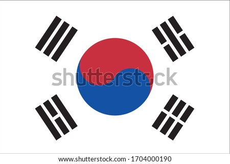 South Korea flag country national oriental
