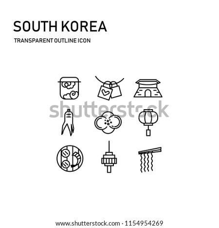 south korea icon design with