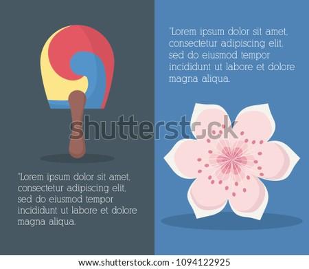 South korea infographic design