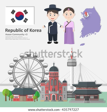 south korea infographics with
