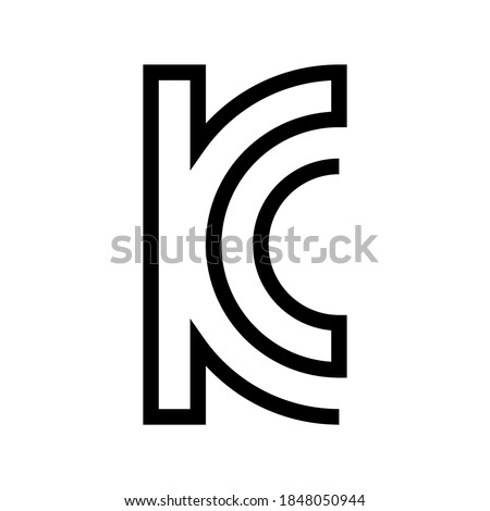 South Korea KCC Certification mark symbol. South Korea KC Certification for Electrical and Electronic Product.
