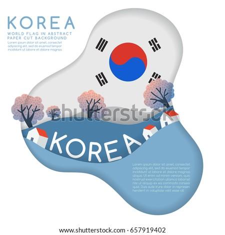 south korea   world flag in