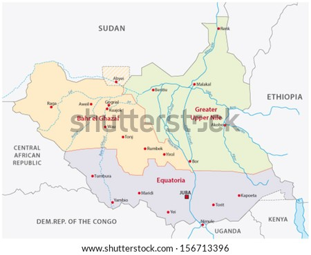 south sudan administrative map