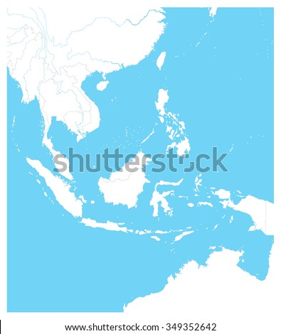 southeast asia outline map