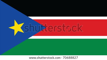 Southern Sudan flag Vector