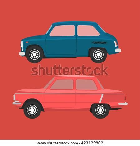 soviet cars vector image