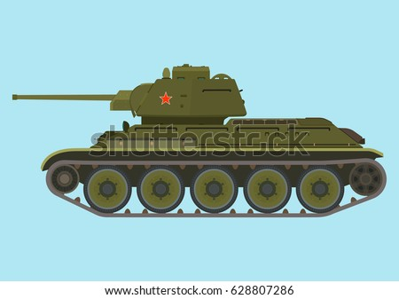 soviet medium green tank in