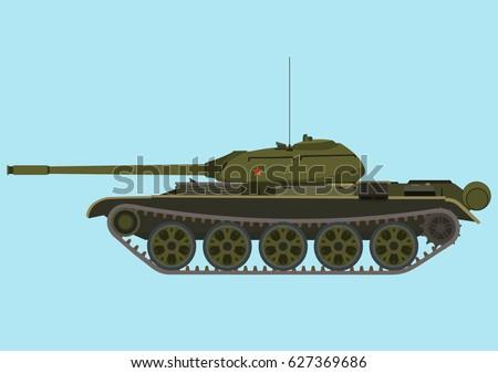 soviet medium green tank t 54
