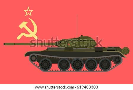 soviet medium tank t 54 in
