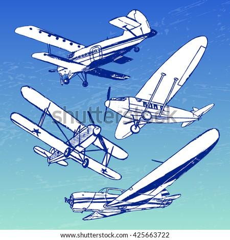 soviet retro planes collection
