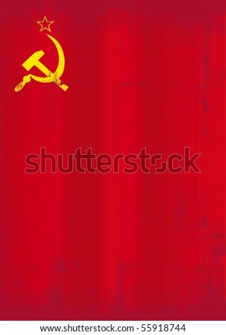 soviet union grunge flag a