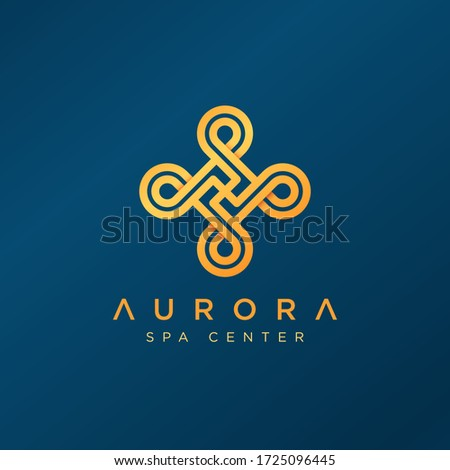 Spa Center Logo Design. Modern and simple icon for luxury cosmetic, fashion, jewelry, beauty salon, spa center or hotels. Abstract sign for premium brand.