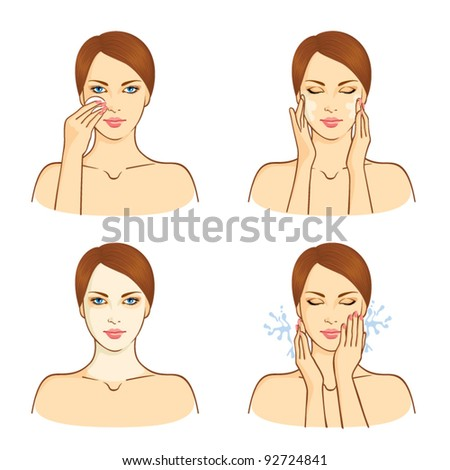SPA, health and beauty set with young woman