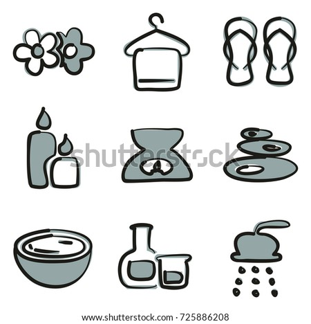 spa icons freehand 2 color