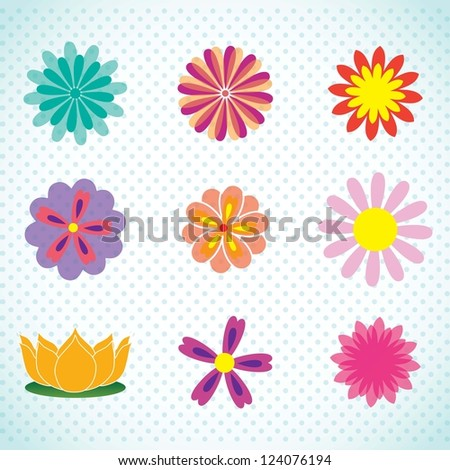 spa icons over light background vector illustration - stock vector