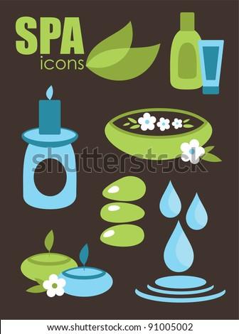 spa icons set. vector illustration