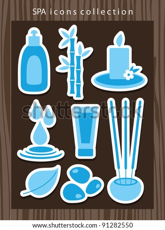 spa icons set. vector illustration