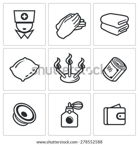 spa icons vector illustration