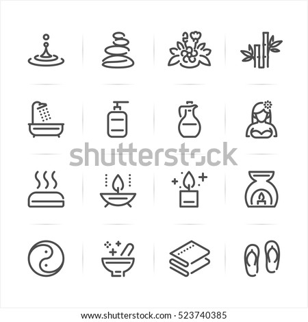 Spa icons with White Background