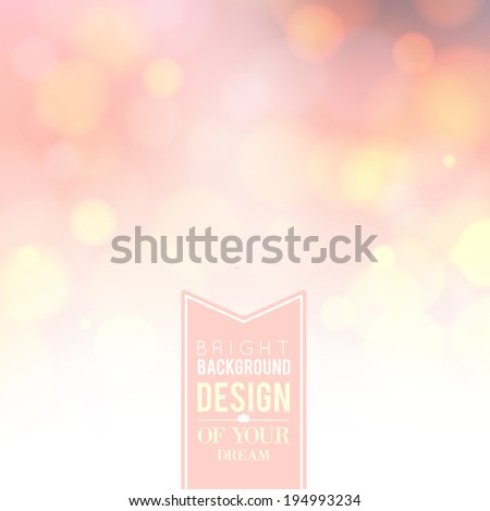 Spa lettering over pink bokeh background. Vector illustration.