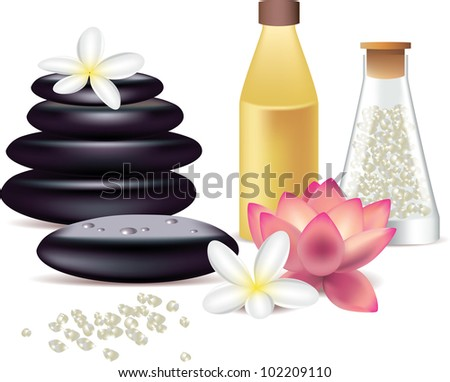 spa still life isolated on white photo-realistic vector illustration