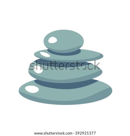 spa stone flat vector icon