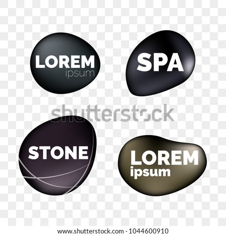 spa stones 3d isolated