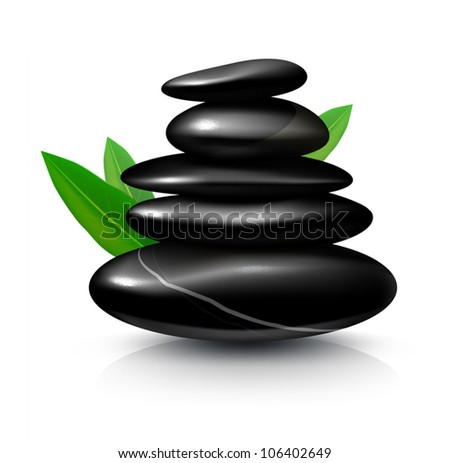 Spa STONES. Detailed VECTOR illustration, painted with love to details.