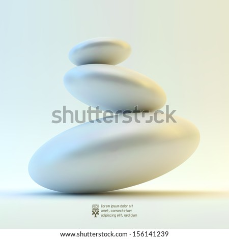 Spa stones. Vector 3d illustration.